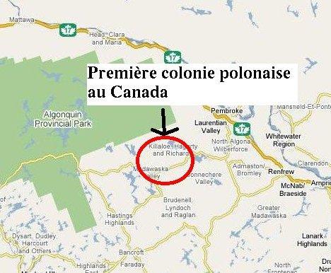 Saisie d'écran de Google Maps centré sur Kaszuby