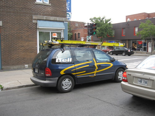 Camion de Bell Canada
