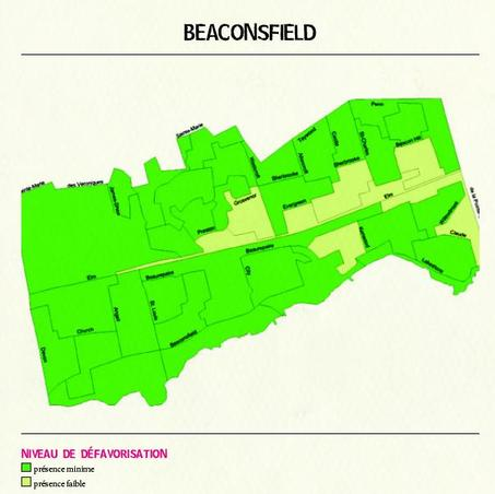 carte de la dfavorisation des familles, Beaconsfield