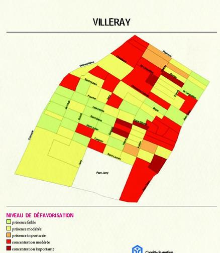 carte de la dfavorisation des familles, Villeray