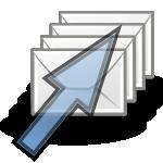 Images avec une flèche et 4 enveloppes