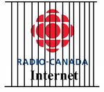 Logo de Radio-Canada internet, derrière les barreaux
