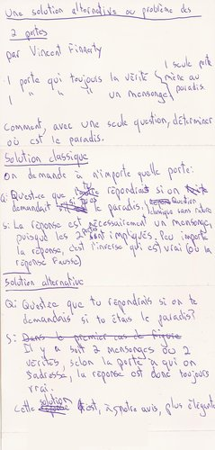 Scripte du billet « Solution alternative au problème des 2 portes »