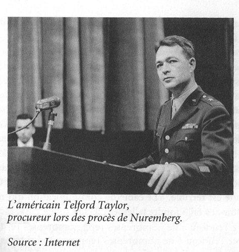 L'américain Telford Taylor, procureur lors des procès de Nuremberg.  Source: Internet