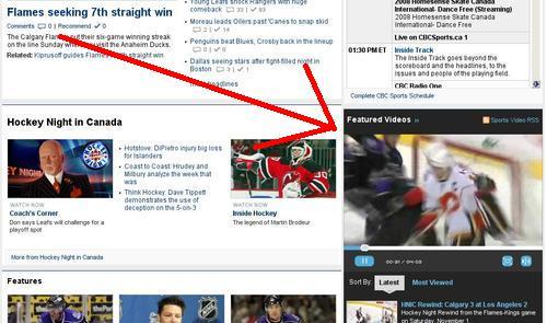 Saisie d'écran du site de la CBC où on voit un extrait vidéo