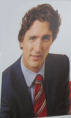 Visage de Justin Trudeau