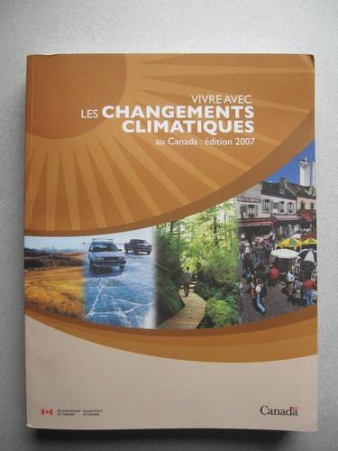 Photo du livre « Vivre avec les changements climatiques au Canada »