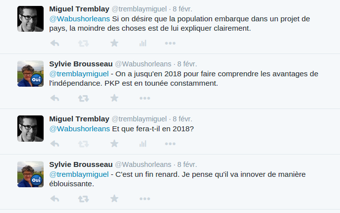 Discussion sur Twitter d